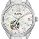 bulova classic automatic ladies new sutton dress smykkeur inspiration til kvinder stålur med diamanter urkompagniet