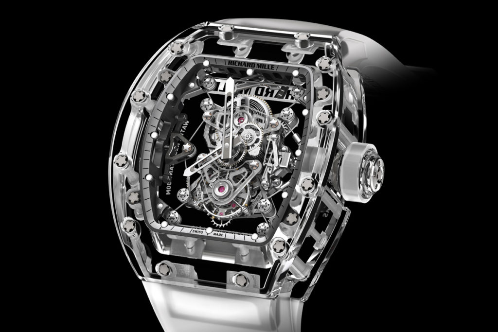 arkitektonisk million ur fra richard mille med safirglas